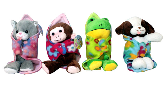 Plush Blanket Babies - Gifts For Boys & Girls - Santa Shop Gifts