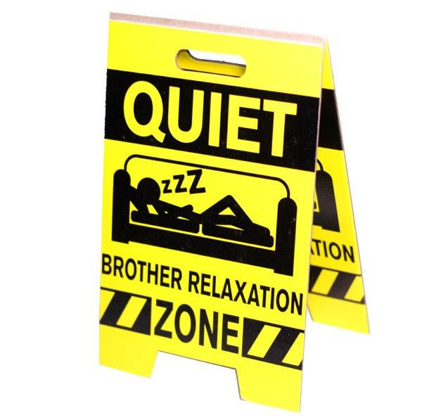 Brother Relaxation Zone Sign - Brother Gifts - Santa Shop Gifts