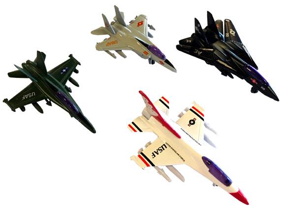 Die Cast Pull Back Fighter Jet Plane - Gifts For Boys & Girls - Santa Shop Gifts
