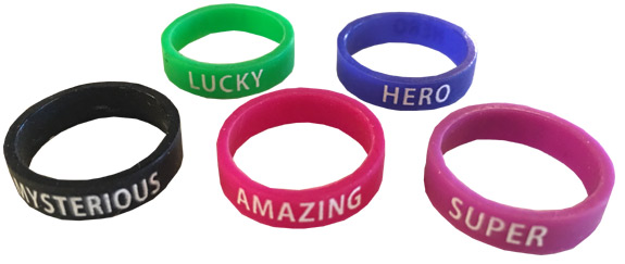 Finger Power Ring Bands - Gifts For Boys & Girls - Santa Shop Gifts