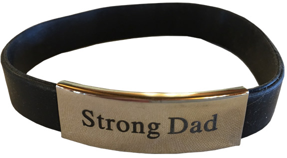 Strong Dad Fit Band Bracelet - Dad Gifts - Santa Shop Gifts