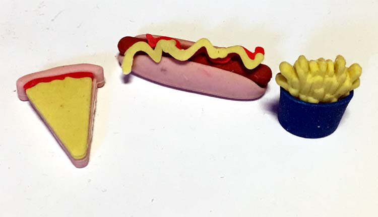 Fast Food Puzzle Eraser - Gifts For Boys & Girls - Santa Shop Gifts