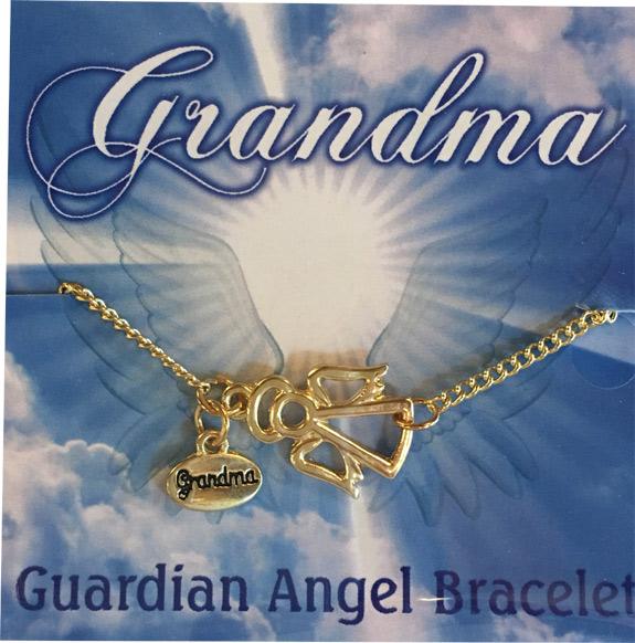 Grandma Gold Angel Charm Bracelet - Grandma Gifts - Santa Shop Gifts