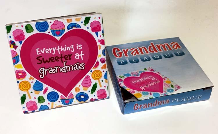 Grandma Plaque - Grandma Gifts - Santa Shop Gifts