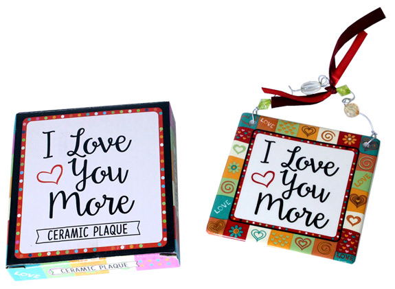 I Love you More Ceramic Plaque - Gifts For Women - Santa Shop Gifts