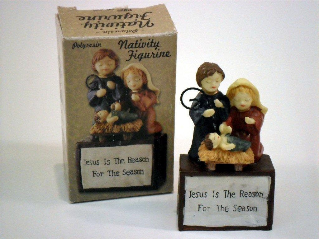 Jesus Is The Reason Nativity Figurine - Christian Gifts - Santa Shop Gifts