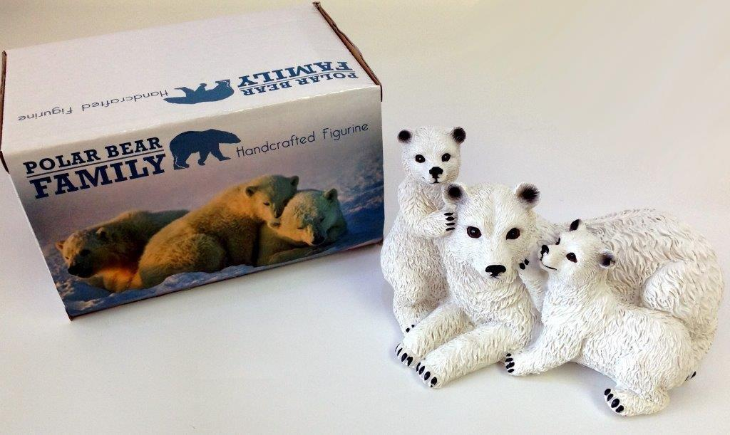 Polar Bear Family Figurine - Gifts For Women - Santa Shop Gifts