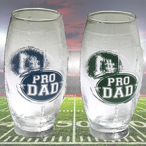 Pro Dad Football Shaped Glass Mug - Dad Gifts - Santa Shop Gifts