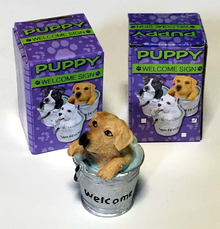 Puppy Welcome Figurine - Gifts For Everyone Else - Santa Shop Gifts