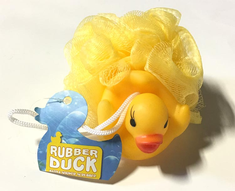 Rubber Ducky Bath Scrubber Toy - Baby Gifts - Santa Shop Gifts