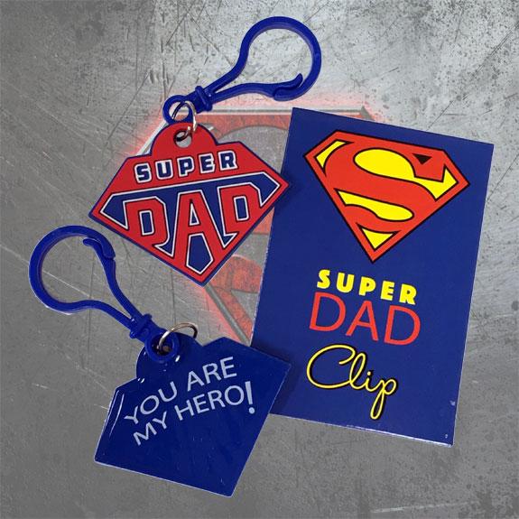 Super Dad Clip - Dad Gifts - Santa Shop Gifts