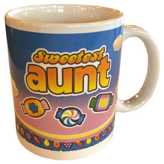 Sweetest Aunt Mug - Aunt Gifts - Santa Shop Gifts