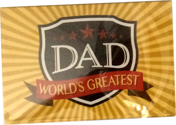 Worlds Greatest Dad Magnet - Dad Gifts - Santa Shop Gifts