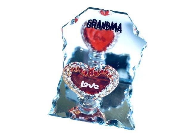 Grandma Heart Mirror Plaque - Grandma Gifts - Santa Shop Gifts