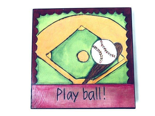 Inspirational Baseball Plaque - Gifts For Men - Santa Shop Gifts