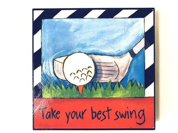 Inspirational Golf Plaque - Gifts For Men - Santa Shop Gifts