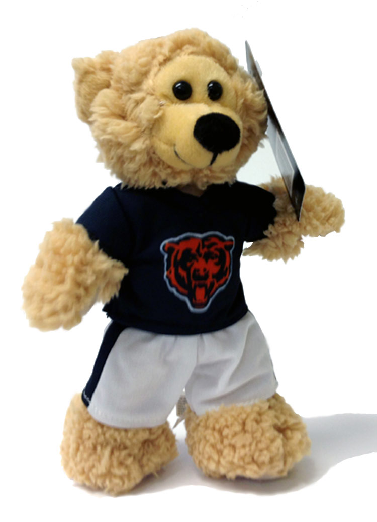Chicago Bears Plush NFL Quarterback Bear - Sports Team Logo Gifts - Santa Shop Gifts