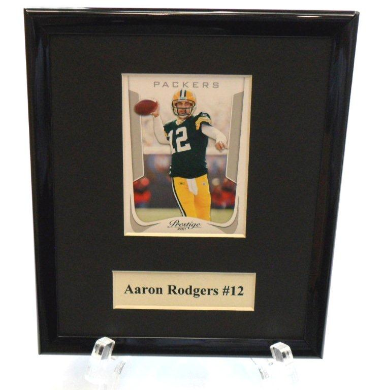 Aaron Rodgers NFL Sports Star Plaque - Sports Team Logo Gifts - Santa Shop Gifts