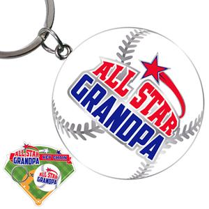 All Star Grandpa Keychain - Grandpa Gifts - Santa Shop Gifts