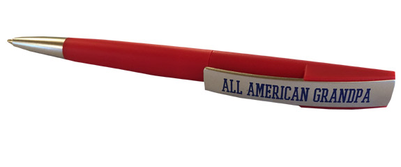 All American Grandpa Pen On Gift Card - Grandpa Gifts - Santa Shop Gifts