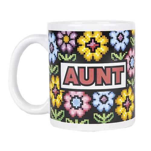 Aunt Flower Design Mug
