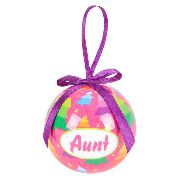 Aunt Holiday Ornament - Aunt Gifts - Santa Shop Gifts