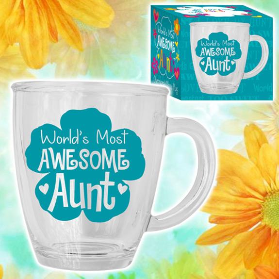 Awesome Aunt Glass Mug
