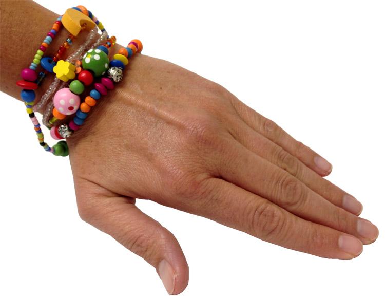Set of 5 - Beadtastic Bead Bracelet Multi Charm - Jewelry Gifts - Santa Shop Gifts