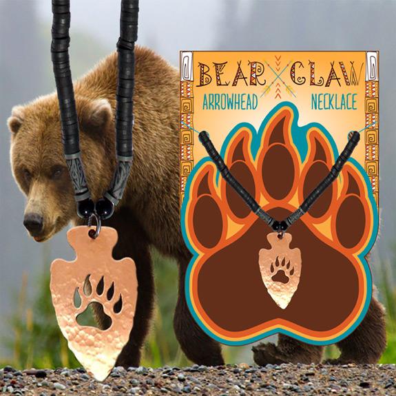 Bear Claw Arrow Head Necklace