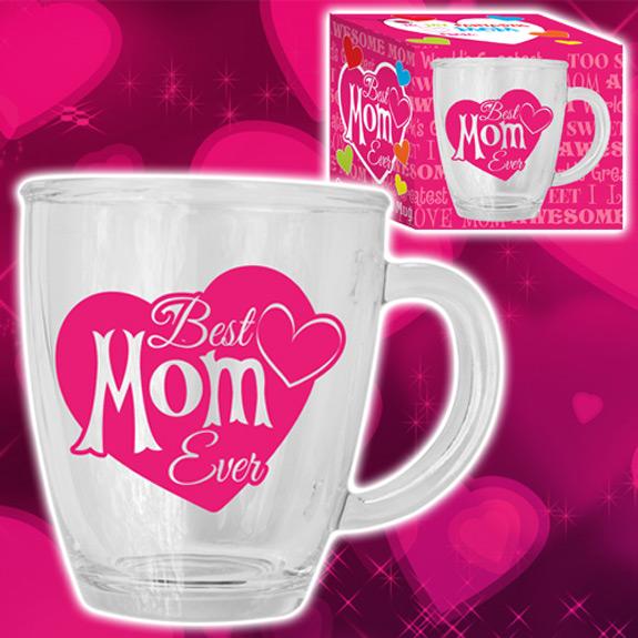 Best Mom Ever Glass Mug