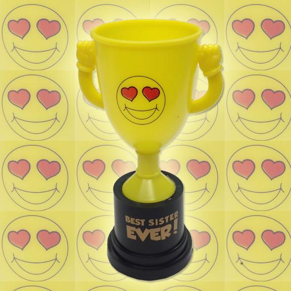 Best Sister Emoji Trophy