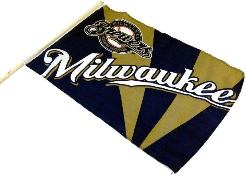 Team Flag on Stick - Brewers - Sports Team Logo Gifts - Santa Shop Gifts
