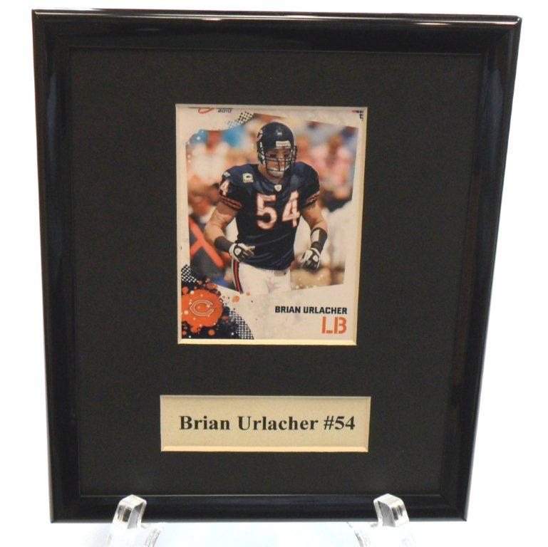 Brian Urlacher NFL Sports Star Plaque - Sports Team Logo Gifts - Santa Shop Gifts