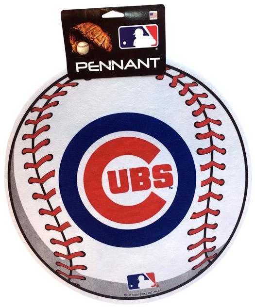 Chicago Cubs MLB Ball Pennant - Sports Team Logo Gifts - Santa Shop Gifts