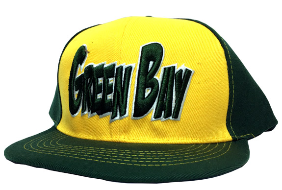 Green Bay City - Flat Brim Hat - Cap - Sports Team Logo Gifts - Santa Shop Gifts