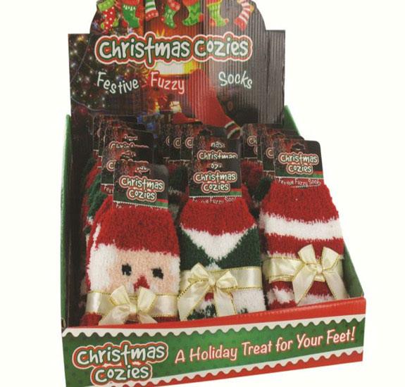 Cozy Fuzzy Christmas Socks - Christmas - Holiday Gifts - Santa Shop Gifts