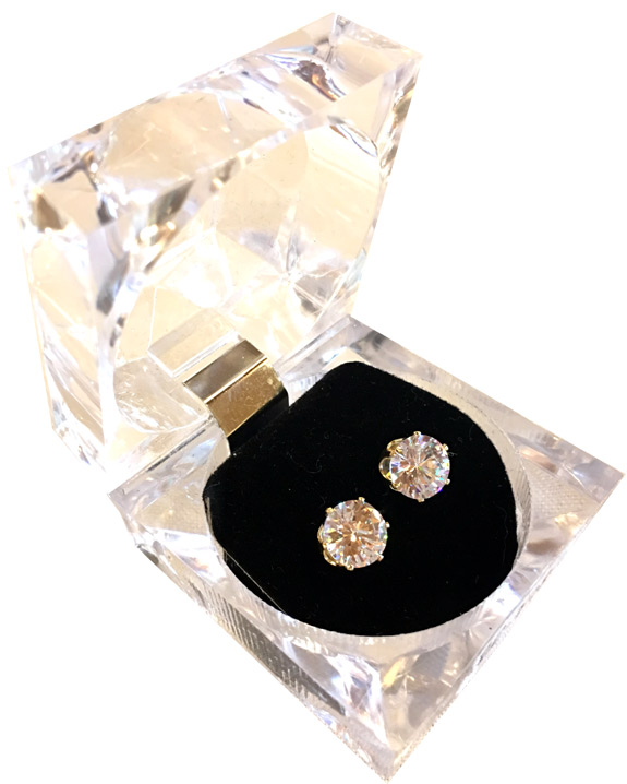 CZ Stud Earrings - Crystal Box - Jewelry Gifts - Santa Shop Gifts