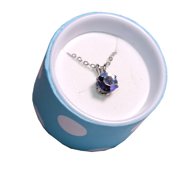 Crystal Necklace in Polka Dot Box - Jewelry Gifts - Santa Shop Gifts