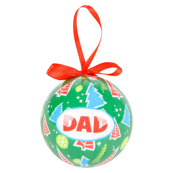 Dad Christmas Bow Ornament - Dad Gifts - Santa Shop Gifts