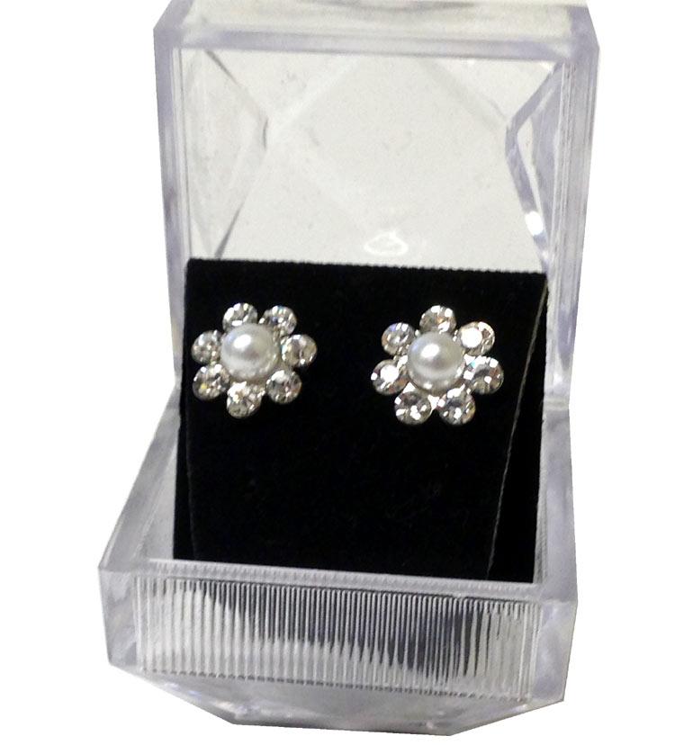 Diamond Cluster Fashion Earrings - Jewelry Gifts - Santa Shop Gifts