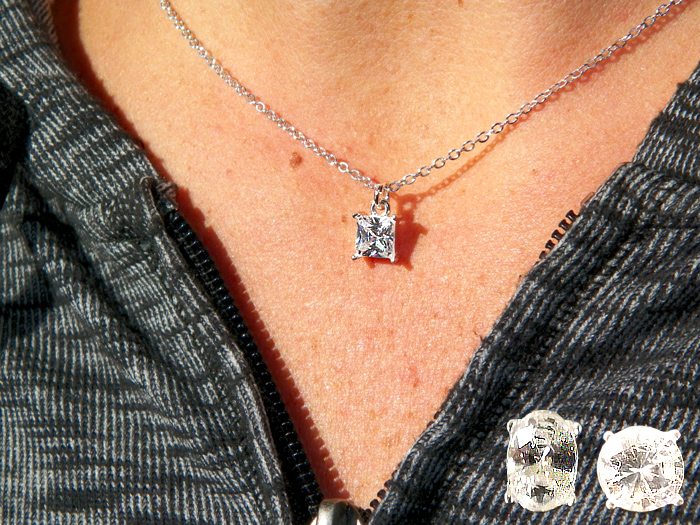 Genuine Cubic Zirconia Pendant in Blue Box - Jewelry Gifts - Santa Shop Gifts