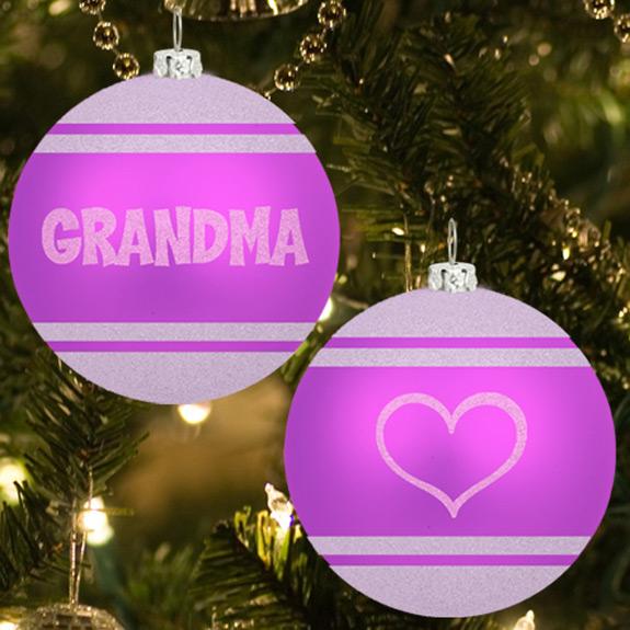 Grandma Glitter Ornament