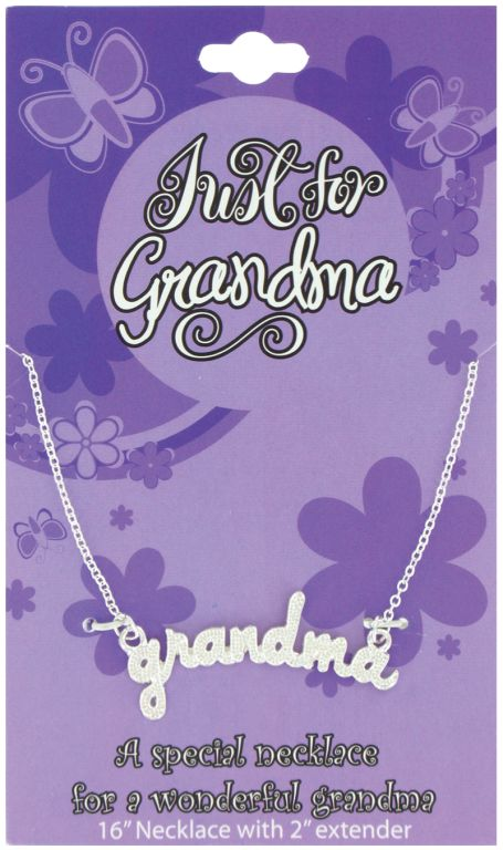 Just for Grandma Necklace on Card - Grandma Gifts - Santa Shop Gifts