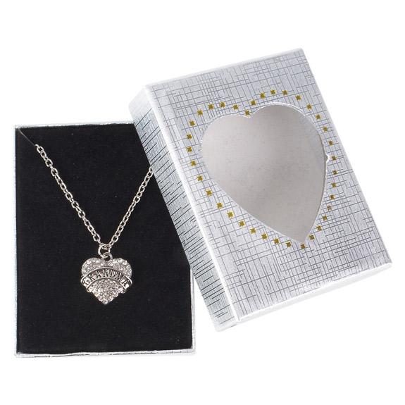 Grandma Heart  Necklace in Gift Box - Grandma Gifts - Santa Shop Gifts