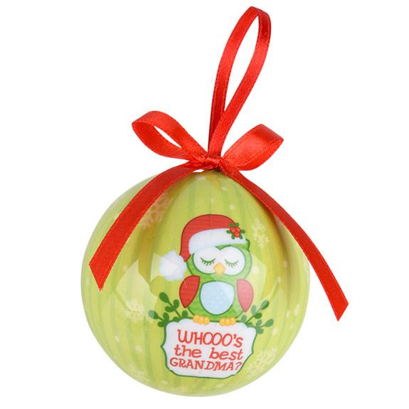 Grandma Owl Ornament - Grandma Gifts - Santa Shop Gifts