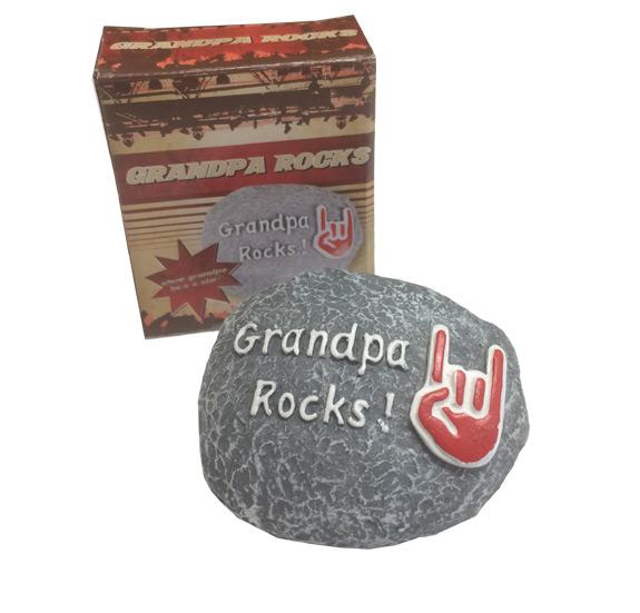 Grandpa Rocks! Paperweight - Grandpa Gifts - Santa Shop Gifts