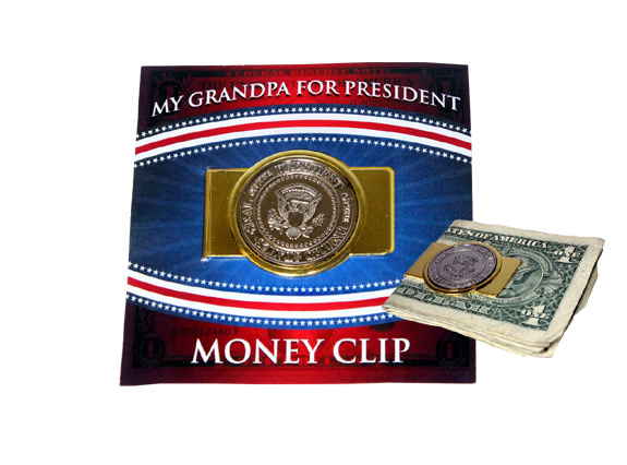My Grandpa for President Money Clip - Grandpa Gifts - Santa Shop Gifts