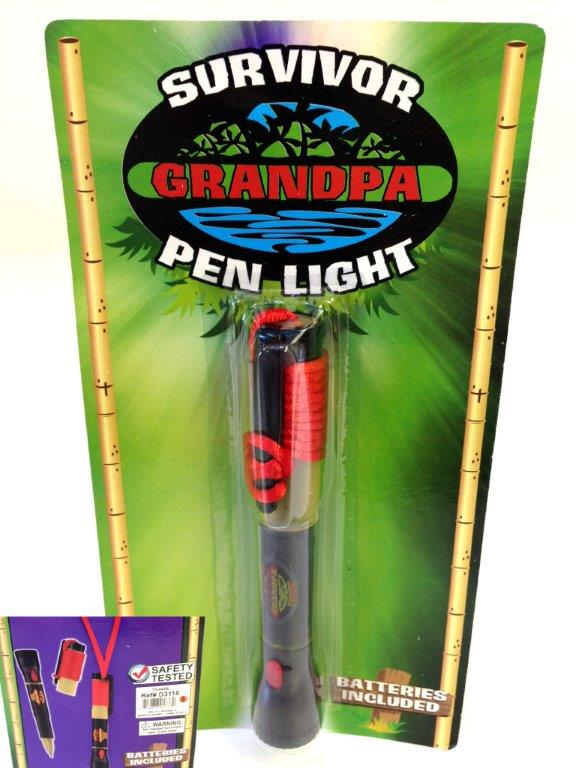 Grandpa Survivor Flashlight - Grandpa Gifts - Santa Shop Gifts