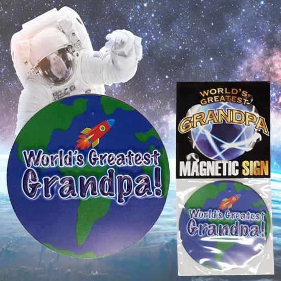 Worlds Greatest Grandpa Magnet - Grandpa Gifts - Santa Shop Gifts