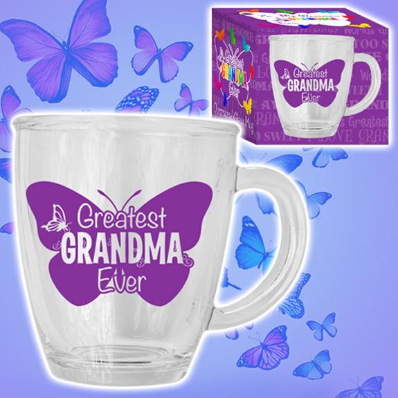 Greatest Grandma Glass Mug